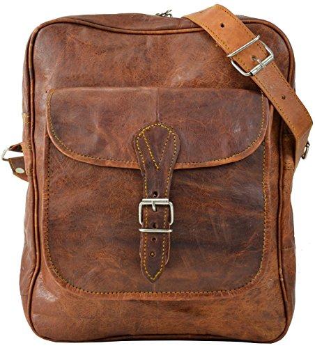 Gusti Handtasche Umhängetasche Vintage Braun Leder