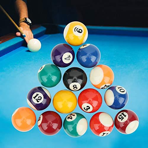 Alomejor Kinder Billard Ball Set, 16PCS Billardkugel 38MM Harz Kinder Billardkugel Spielzeug Nummer Stil Inklusive Spielball Indoor Outdoor Spiel Mini Billardtisch Zubehör