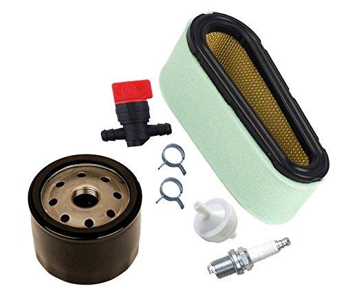 ouyfilters Luftfilter-Kit mit Kraftstofffilter Fuel Shut Off Ventil Ölfilter für Briggs & Stratton 12,5–17HP Motoren ersetzen 496894S 496894493909