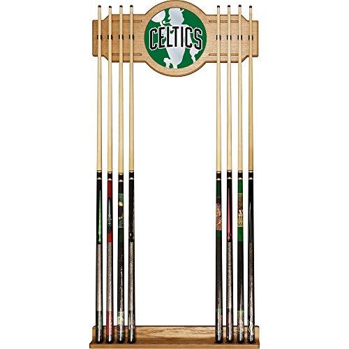 Trademark Gameroom NBA6000-BC2 NBA Cue Rack with Mirror - Fade - Boston Celtics