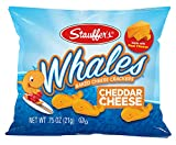 Stauffer's Baked Cheddar Whale Cheese Cracker Snack Packs, .75 Ounces each (Set of 20)