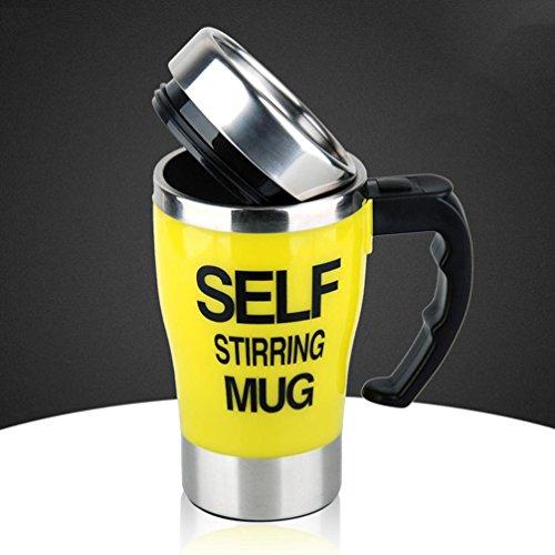WYFC Automatisches mischen Cup Edelstahl innere Tasse Tee kreativen Kaffeetasse . yellow
