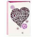 Hallmark Birthday Card for Daughter (Heart Cutout), 0699RZB1167