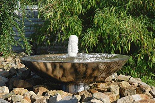 Seliger Gartenbrunnen Edelstahlbrunnen Wasserschale Sprudelnde Schale