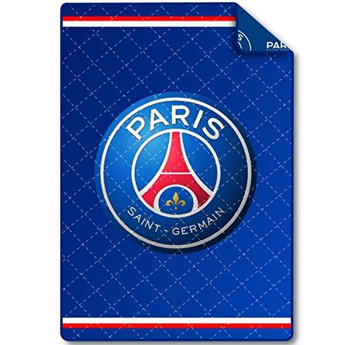 PSG Steppdecke Paris Saint Germain, bedruckt, 140 x 200 cm, 4 Jahreszeiten, aus Mikrofaser, Polyester