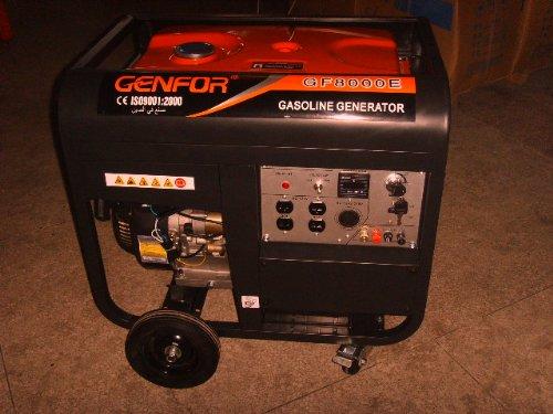 genfor gf8000ce-w 7,000-watt gasolina generador portátil que funciona con motor de arranque eléctrico, 10