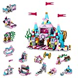 MILESTAR Girls Building Blocks Toys Set 566 PCS Castle City of Joy 25 Models Excellent Gift for Kids Age 6-12 and Up