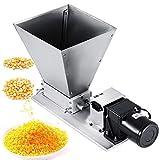 4YANG Trituradora de grano eléctrica Molino de malta de tolva 11LBS Cerveza casera Trituradora de malta 40PRM para cebada,...