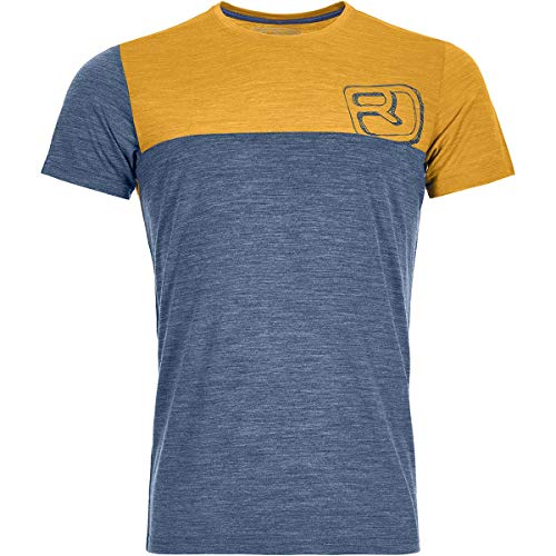 ORTOVOX Herren 150 Cool Logo T-Shirt, Night Blue Blend, M