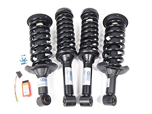 Atlantic British Premium Air Suspension to Coil Spring Conversion Kit for Land Rover LR3 (Adds 2 inches lift)