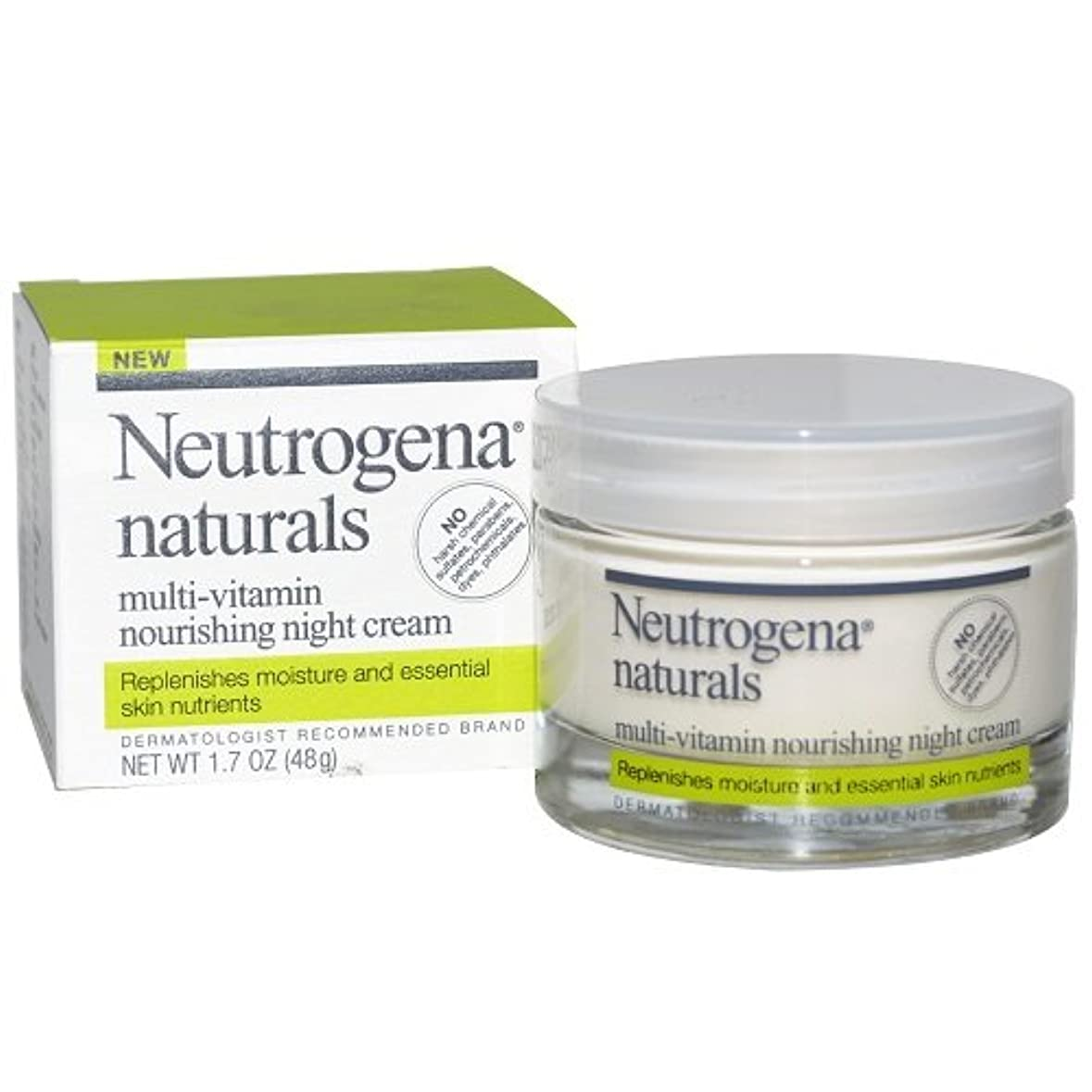 学校の先生パトロンランク[海外直送品] Neutrogena naturals - Multi-Vitamin Nourishing Night Cream 1.7oz(48g)