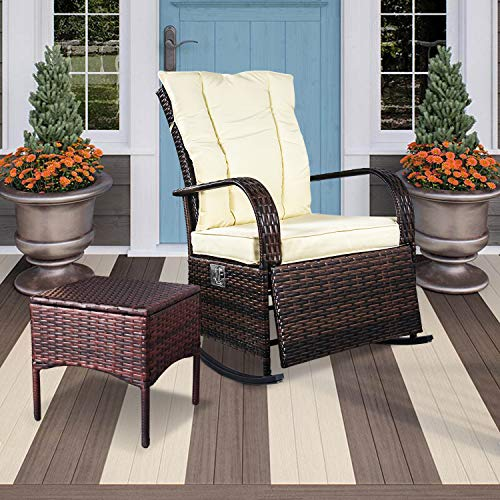 extra wide outdoor rocking chair