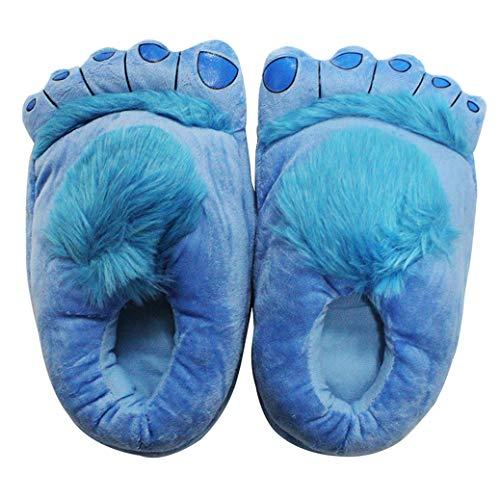 Blue Star Neuheit pelzigen Monster Hausschuhe für Herren und Damen warme Hobbit Füße Hausschuhe