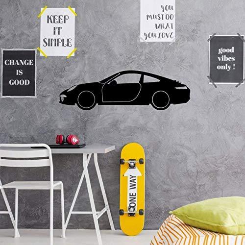 Porsche wanddecoratie garage wandtattoo motorsport vinyl sticker voor slaapkamer speelkamer of man cave decor