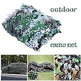 Red de camuflaje, 2 x 4 m, para caza, militar, camuflaje, camuflaje, camuflaje, campamento, refugio de sol, tienda de campaña para toldo de coche, delete, 2x6m/6x19ft