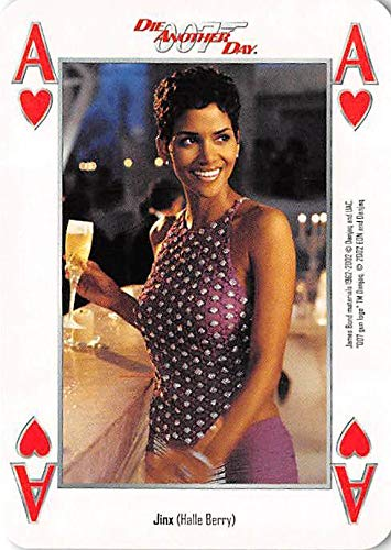 Halle Berry trading card gaming Jinx 007 James Bond Die Another Day #AH Drinking Wine