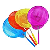 Miraclekoo 4 Pack Kids Telescopic Butterfly Net Fishing Nets Insect Net Extendable 34' Inch