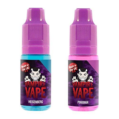 Vampire Vape Heisenberg & Pinkman - ohne Tabak & Nikotin - Nikotingehalt 0% - Probierset 2 x 10 ml