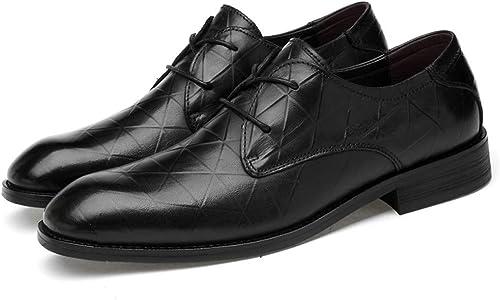Easy Go Shopping Zapaños Oxford Formal Ocasional Ocasional de Oxford Hebilla de Metal Ocasional para Hombre (Color   negro Tie, Tamaño   43 EU)