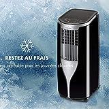 KLARSTEIN New Breeze 9 - Climatiseur Mobile, Déshumidificateur, Ventilateur, 9000BTU/h, 2,6KW, De 16 à 30°C, Ecran LED, Fonction minuterie programmable, Télécommande - Noir