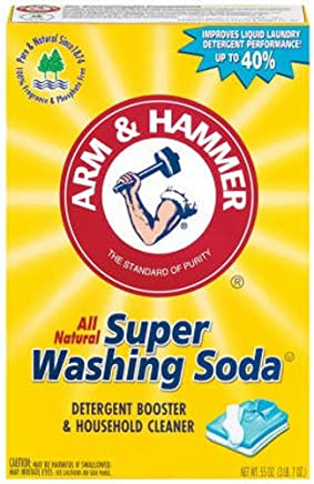 Arm & Hammer Super Washing Soda, Detergent Booster and Household Cleaner, 55 Ounces