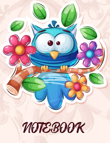 Cute Owl Notebook: Wide Ruled Lined Journal for Women, Girls, Kids, School, Work, Gift - Cute Owl Composition Notebook College Ruled: Cute Owl ... Lined Pages, Large size 8.5