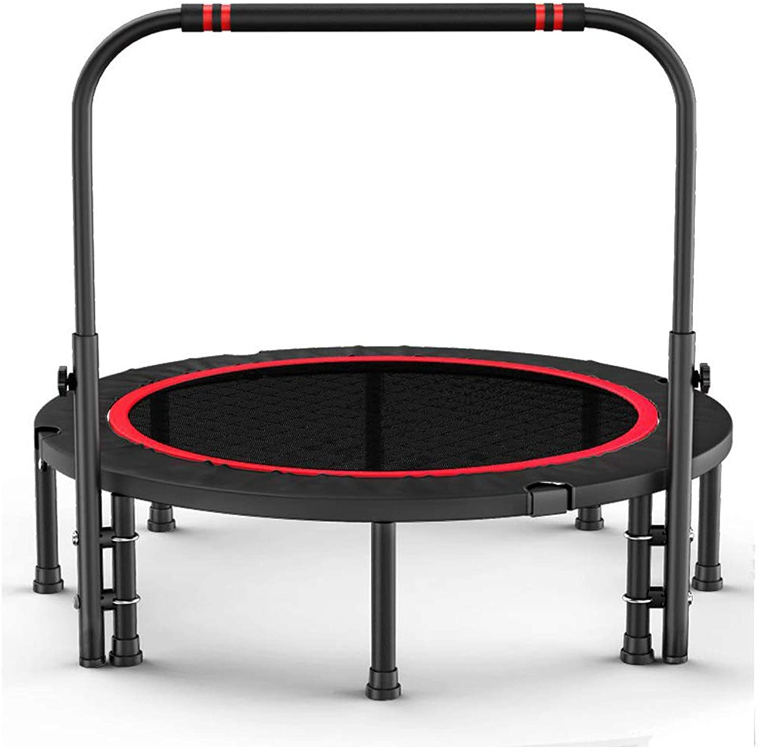Mini Trampoline, UShaped Handle Folding Fitness Trampoline, Aerobics Bouncing Bed Heavy Spring Jump mat, 40in 48in 50in Reinforced Base