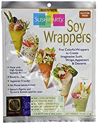 Sushi Party Soy Wrappers on Amazon