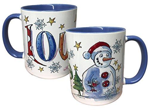 Tasse Schneemann mit Namen, Rosirosinchen, Weihnachten, Weihnachtsdeko