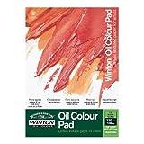 Winsor & Newton Ölmalblock, 10 Blatt Ölpapier mit Leinwandtextur, 230g/m² - DIN A4