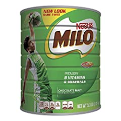 NESTLÉ MILO Chocolate Malt Beverage is fortified with 8 essential vitamins and minerals and comes in a 3.3-pound can (1.5kg) MILO is a good source of iron, vitamin D, vitamin C, and vitamins B2, B3, and B6, plus one glass of MILO made with skim milk ...