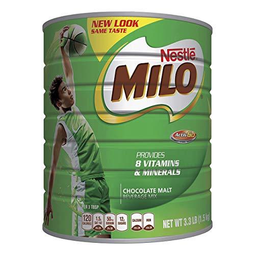 NESTLÉ MILO Chocolate Malt Beverage Mix, 3.3 Pound Can (1.5kg) |...