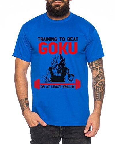 WhyKiki Train to Beat Goku Camiseta de Hombre One Goku...