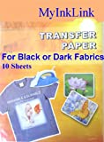 A4 Size Iron On T Shirt Transfer Paper FOR Dark Colour Fabrics 10 Sheets : print your own designs, drawings, company logos for business marketing, motos, motifs, clip art, digital camera photos of family, friends, pets, bithhdays, hobby clubs, football clubs, Pub quiz, hen and stag party using ink jet printers