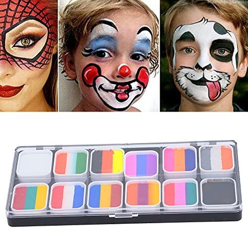Eulbevoli Schminkfarben, leicht zu entfernendes Make-up Bodypaintingfarben Mild und Nicht reizend für Festivals, Karneval, Lagerfeuer oder Themenpartys