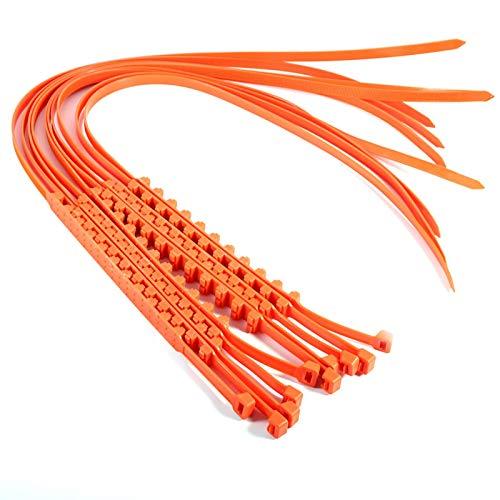 KIMISS Cadenas de neumáticos antideslizantes de emergencia 10 piezas Neumáticos de cable para automóviles Cadenas de seguridad antideslizantes reutilizables Cadenas de barro Cadenas de neumáticos de n
