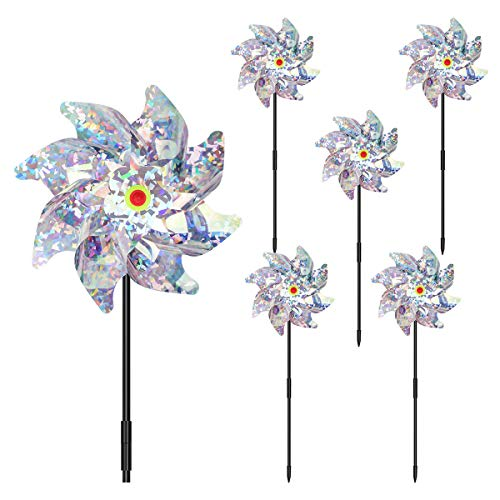 COITEK Bird Deterrent Repellent Pinwheels, 5 PCS Holographic Pin for...