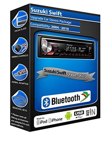 Pioneer Swift DEH-3900BT - Autoradio con USB, CD, MP3, AUX, Bluetooth