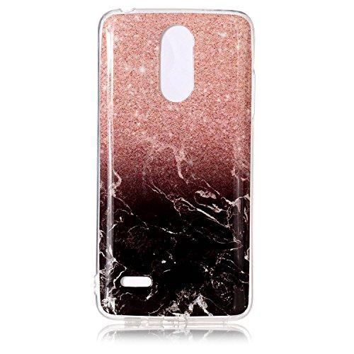 Funluna LG K8 2017 Hülle, Marmor Design Soft TPU Silikon Schutz Handy Hülle Handytasche HandyHülle Case Cover Tasche Schutzhülle für LG K8 2017