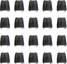 IMI bag 20PCS Folding Ripstop Fabric Drawstring Backpacks for Gym Traveling Partys Promotional Sport Home Storage.NO Logo School Kids Bags (Black)