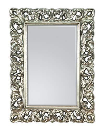 Lnxp Wandspiegel Silber Spiegel ANTIK BAROCK Rokoko 85x62 cm Florenna UVP 299€ Woe