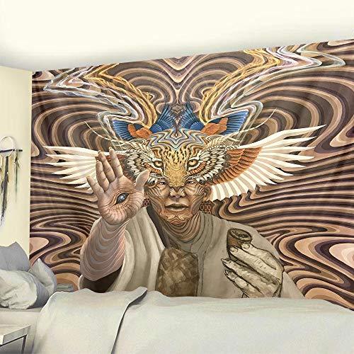KHKJ Tapiz de Escena psicodélica Dormitorio Hippie decoración del hogar Tapiz de brujería Tapiz de Yoga Decorativo Bohemio Manta de sofá A3 200x180cm