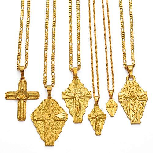 Modell Kreuz Anhänger Kette Halsketten Männer Frauen Mädchen Guam Hawaii Mikronesien Chuuk Mars0hall Schmuck Kreuze-217706_Small_60_cm
