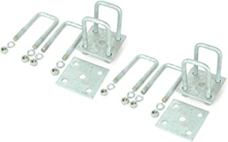 Sturdy Built Tandem Axle Galvanized U Bolt Kit for mounting Boat Trailer Leaf Springs for 2x2 axle - 5 1/4