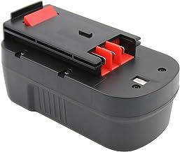 KINSUN Sustitución poder herramienta batería 18V Ni-MH 3000mAh para Black & Decker Taladro inalambrico atornillador de impacto 244760-00 A1718 A18 HPB18 HPB18-OPE