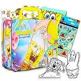 Nickelodeon Spongebob Square Pants Activity Set Spongebob Tin Lunch Box Bundle - Spongebob Toy with Spongebob Squarepants Stickers, Coloring Pages, Activities and More