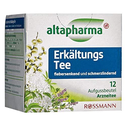 Altapharma Arzneitee - Erkältungs Tee fiebersenkend und schmerzlindernd 12 Aufgussbeutel