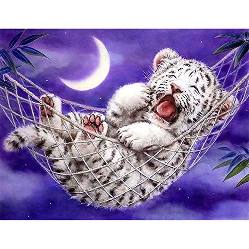 DIY 5D Diamond Painting Kits Full Drill Bebé tigre Large Pictures Cross Stitch Embroidery Adults Child Art Gift for Home Living Room Bedroom Wall Decor 50x70cm L1131