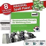 Wolfsburg Fahne ist jetzt das MAXIMAL SPAß Paket für VFL-Fans by Ligakakao.de | große Hissfahne mit Vereins Logo, grün-weiß