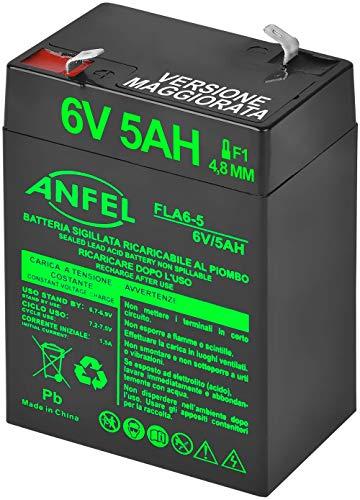 Batteria Lead Acid AGM 6V 4Ah al Piombo Ricaricabile Pila Batteria Ermetica Batterie di Ricambio per Allarme Sirena Giocattoli Prodotti Medici